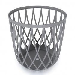 Multi-purpose bin - seat UNIQUBO - 35 litres - stone grey