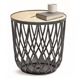 Daudzfunkcionāls galds - uzglabāšanas tvertne UNIQUBO - 55 litri - antracīta pelēka -