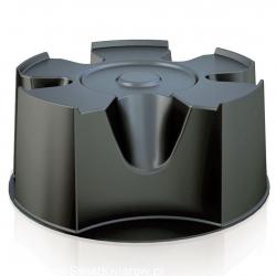 Depósito de agua de lluvia con soporte para barril, grifo, colector de agua y agente depurativo - Raincan - 210 l - negro -