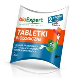 Tabletas efervescentes BIO para fosas sépticas, pozos negros, plantas de tratamiento de aguas residuales domésticas y alcantarillado - 2 tabletas -