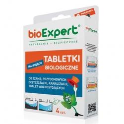 BIO šumeče tablete za greznice, greznice, gospodinjske čistilne naprave in kanalizacijo - 4 tablete -