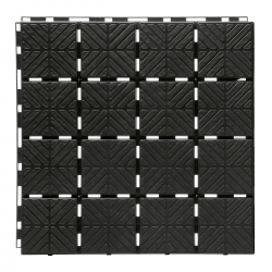 Interlocking pavement and floor tiles, flooring pavers - for balconies, terraces and gardens -  EASY SQUARE - black - 1.5 m²