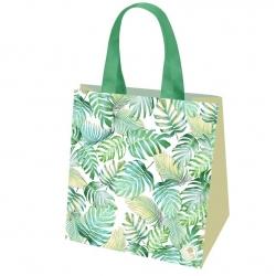 Iepirkumu maisiņš pārtikas precēm - Boho Cāļa lapas - 34 x 34 x 22 cm -