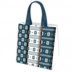 Iepirkumu maisiņš pārtikas precēm - Nordic Pattern 2 - 38 x 38 x 17,5 cm -