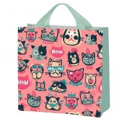 Iepirkumu maisiņš pārtikas precēm - Kaķēni - 26 x 26 x 12 cm -