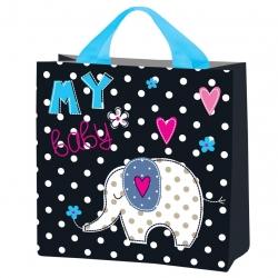 Iepirkumu maisiņš pārtikas precēm - Baby Elephant - 26 x 26 x 12 cm -
