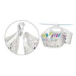 Clothes pins in a decorative basket - CLEAN KIT - 20 pcs