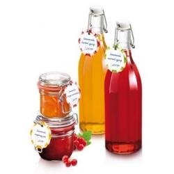 Etiquetas para tarros y botellas con tapa abatible - DELLA CASA - 24 uds. -