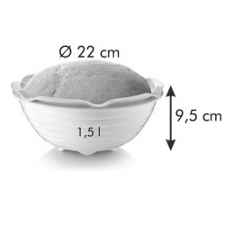 Bread basket mould with a bowl - DELLA CASA; basket with dish for homemade bread