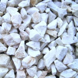 Balta marmora grants / oļi - Baltā Marianna - 8-16 mm - 5 kg -