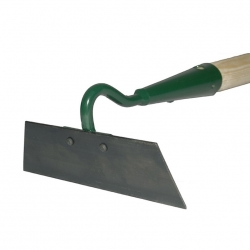 One sided tempered hoe 18 cm, with a handle
