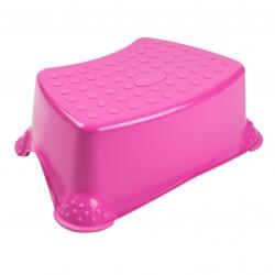 Tomek Little Duck' children's non-slip step stool - pink
