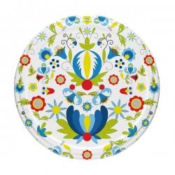 Tapas de frascos (rosca de 6 puntas) con motivo popular casubio - ø 82 mm - 10 piezas -