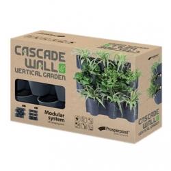Wall-mounted pots for cascade plant cultivation - vertical garden - Cascade Wall - anthracite grey