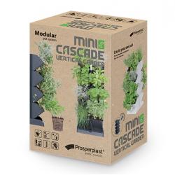 Moduláris ültetvényesek kaszkádos növénytermesztéshez - függőleges kert - Mini kaszkád - fehér -