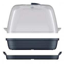 Kis beltéri mini üvegház - Respana asztali üvegház - antracitszürke -