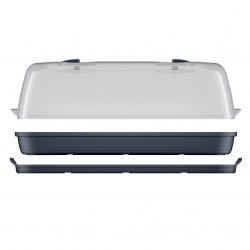Nagy beltéri mini üvegház - Respana Asztal üvegház - antracitszürke -