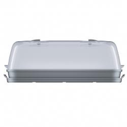 Nagy beltéri mini üvegház - Respana Asztal üvegház - kőszürke -