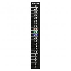 Isekleepuv LCD termomeeter - 20x145 mm -