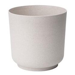 """Augu pods """"Satina Eco"""" ar koka piejaukumu - 17 cm - balts -"""