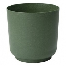 """""""Satina Eco"""" augu pods ar koka piejaukumu - 25 cm - malahīta zaļu -"""