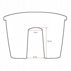 """Crown"" railing-mounted balcony box - terracotta-coloured - 24 cm"