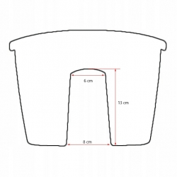 """Crown"" railing-mounted balcony box - white - 24 cm"