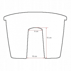 "Caja montada sobre barandilla ""Lobelia"" - 45 cm - blanco crema -"
