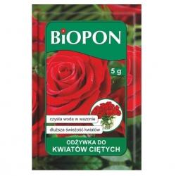 Výživná prášková rezaná kvetina - predĺžená čerstvosť rastlín - BIOPON® - 5 g -