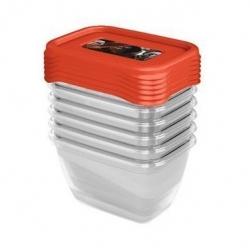 Star Wars 6 round food storage box set - 6 x 0.25 litre - transparent