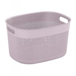 Oval basket, box 'Filo Basket' - 18 litres - pink