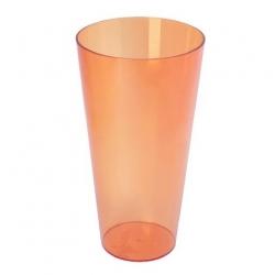 "Tall ""Vulcano Tube"" planter casing - 15 cm - transparent tea colour"