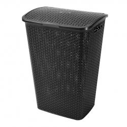 """My Style"" laundry basket - 55 litres - black"