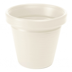 """Round """"Agawa"""" pot - lightweight and frost resistant - 46 cm - chiselled, creamy white"""