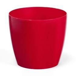 """Round """"Magnolia"""" plant pot casing - 15.5 cm - red"""