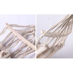 Single hammock with wooden spreader bars - 200 x 100 cm
