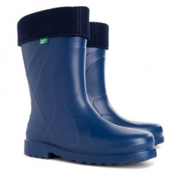 """""""Luna"""" youth's or ladies wellingtons - navy blue - size 37/38; galoshes, rain boots"""