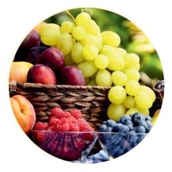 Csavarható üvegfedelek (6 füles) - gyümölcskosár - Ø 82 mm -