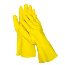 Sarung tangan karet berlapis katun - ukuran 7 -
