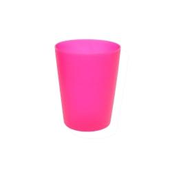 Plastic cup 0.25 l - fresh pink