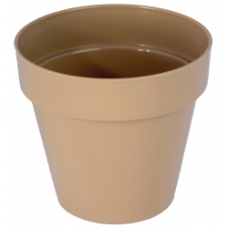"""Estuche redondo """"Ibiza"""" - 16 cm - cafe latte -"""