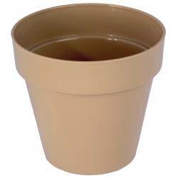 """Estuche redondo """"Ibiza"""" - 14 cm - cafe latte -"""