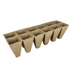 Macetas cuadradas de turba 6 x 10 cm - 12 piezas -
