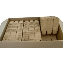 Квадратные торфяные горшки 8 х 8 см - 6 штук -