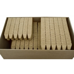 Macetas cuadradas de turba 5 x 5 cm - 60 piezas -