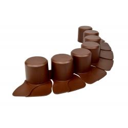 Palisade taman - rendah - 4,05 m - Coklat -