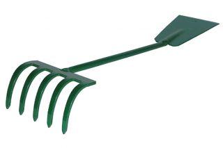 Hand rake - shovel - 2 in 1