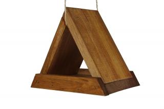 Triangular bird feeder - brown