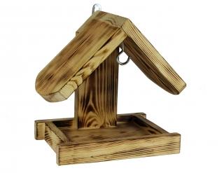 Wall mounted bird feeder - charred wood
