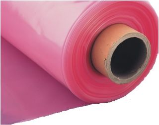 Розовая садовая фольга - UV6, ширина: 1 м -